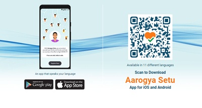 Scan QR code to download Aarogya Setu App